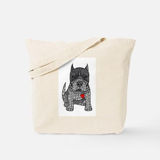 Devotion -American Pitbull Terrier 2 Tote Bag