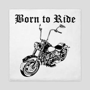 Born To Ride Motorcycle Queen Duvet