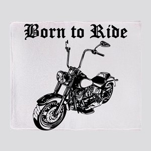 Born To Ride Motorcycle Throw Blanket