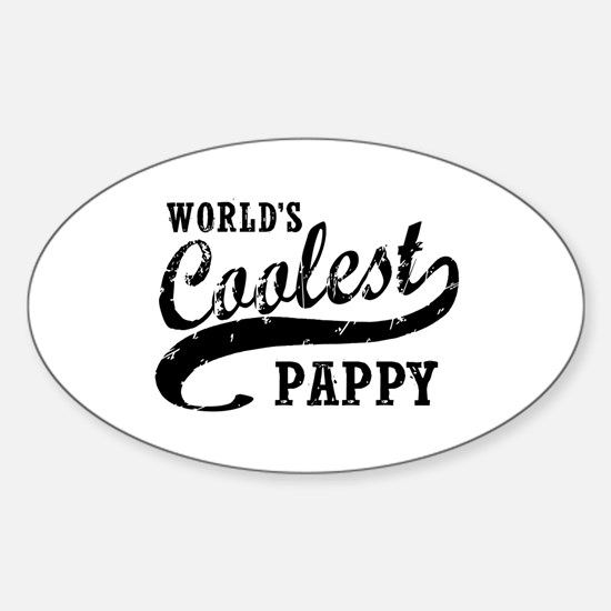 World's Coolest Pappy Sticker (Oval)