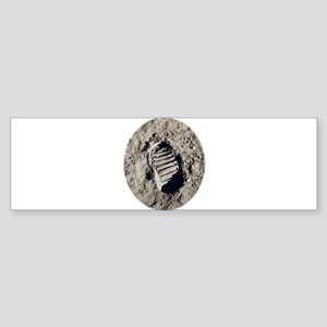 Moon Footprint Bumper Sticker
