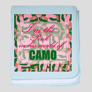 Pink Camo baby blanket