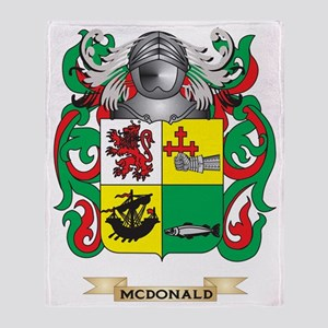 McDonald-(Slate) Coat of Arms - Fami Throw Blanket