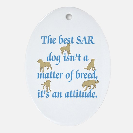 SAR Breed (ver 2) Ornament (Oval)