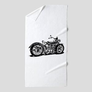 Vintage Motorcycle Beach Towel