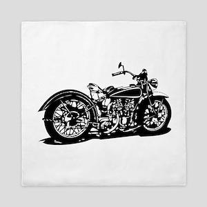Vintage Motorcycle Queen Duvet