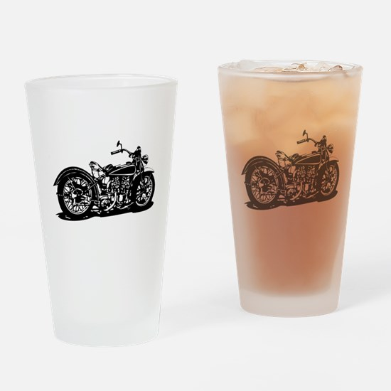 Vintage Motorcycle Drinking Glass