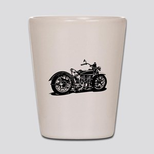 Vintage Motorcycle Shot Glass