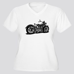 Vintage Motorcycle Plus Size T-Shirt