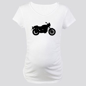 Vintage Motorcycle Silhouette Maternity T-Shirt