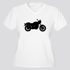 Vintage Motorcycle Silhouette Plus Size T-Shirt