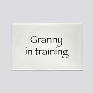 Granny in training Rectangle Magnet
