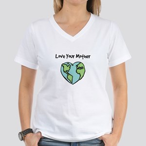 """Love Your Mother"" Women's V-Neck T-Shirt"