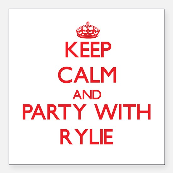 Keep Calm and Party with Rylie Square Car Magnet 3