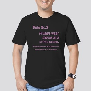 RULE NO. 2 Men's Fitted T-Shirt (dark)