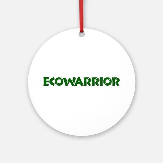 """Ecowarrior"" Ornament (Round)"