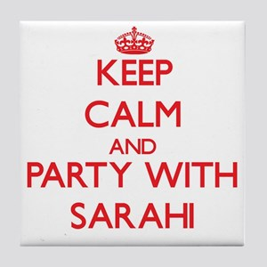 Keep Calm and Party with Sarahi Tile Coaster