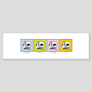 Four Seasons Camper Sticker (Bumper)