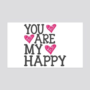 You Are My Happy Love Wall Decal