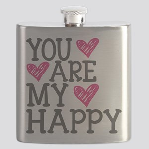 You Are My Happy Love Flask