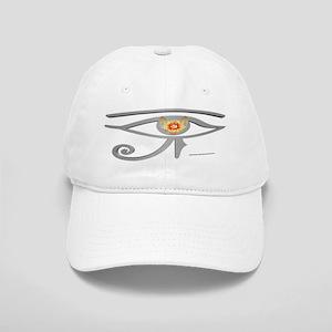 Silver Eye of Re Baseball Cap