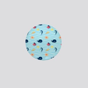 Whimsical Sea Creatures Mini Button