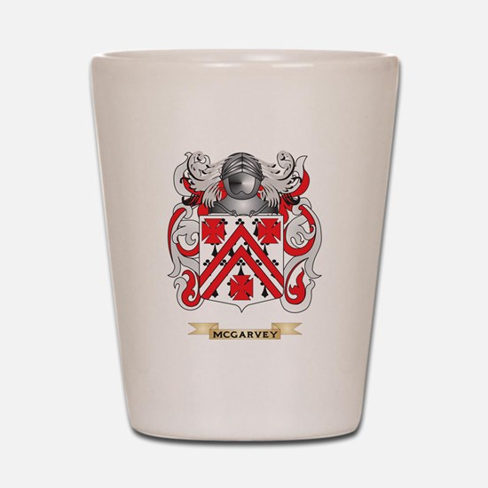 McGarvey Coat of Arms - Family Crest Shot Glass