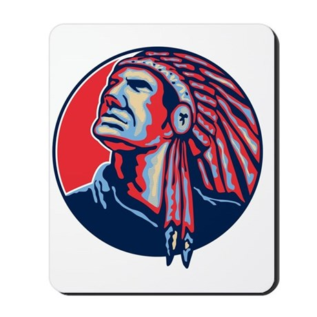 Native American Indian Chief Retro Mousepad