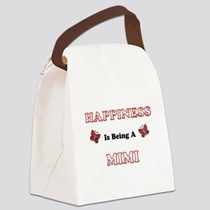 Happiness Is Being A Mimi Canvas Lunch Bag