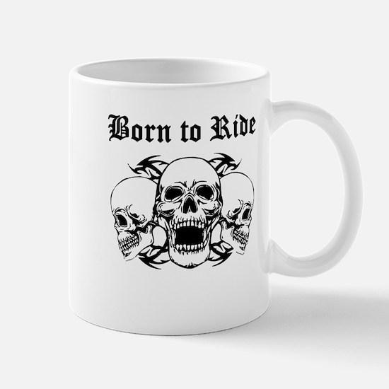 Born To Ride Three Skulls Mugs