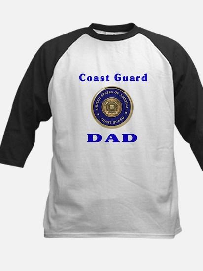 coast guard dad Kids Baseball Jersey