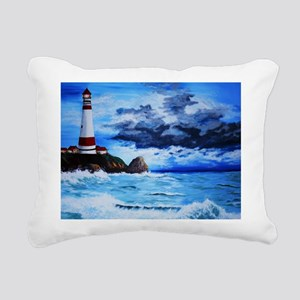 crashing waves Rectangular Canvas Pillow