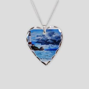 crashing waves Necklace Heart Charm