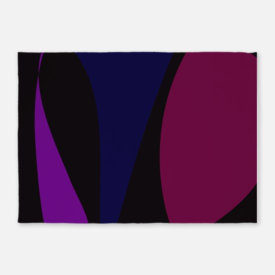 Abstract Night 5'x7'Area Rug