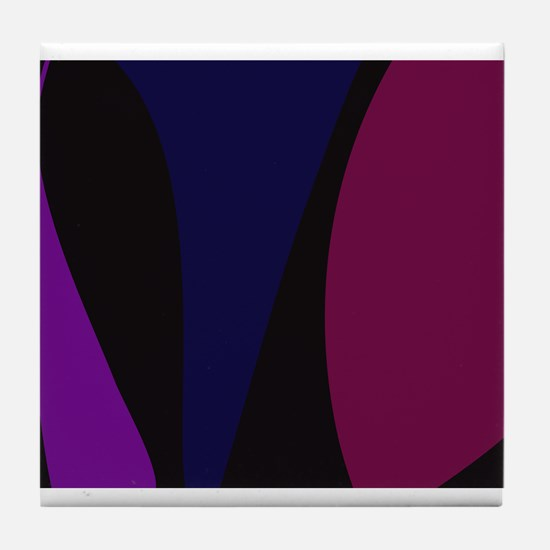 Abstract Night Tile Coaster