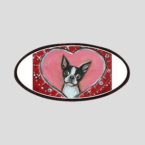 Boston Terrier Valentine xoxo Patches