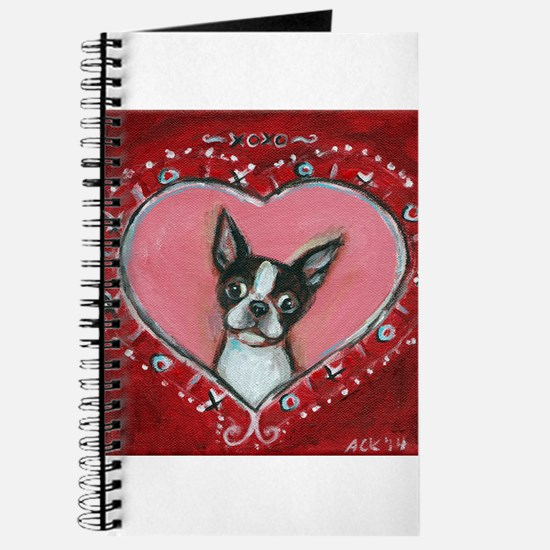 Boston Terrier Valentine xoxo Journal