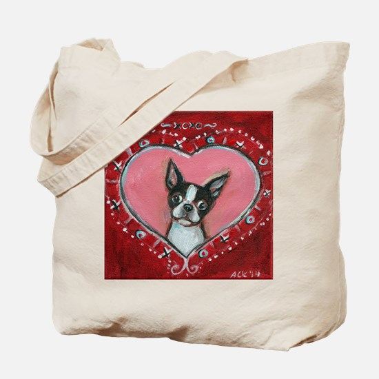 Boston Terrier Valentine xoxo Tote Bag