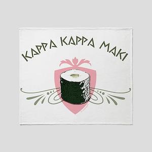 Kappa Kappa Maki Throw Blanket