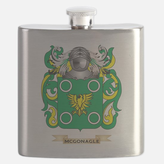McGonagle Coat of Arms - Family Crest Flask