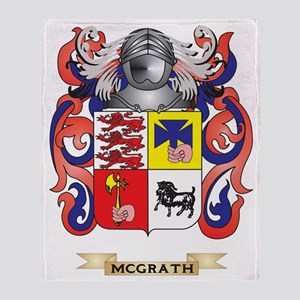 McGrath Coat of Arms - Family Crest Throw Blanket