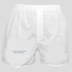 The Child Has No-Choice Boxer Shorts