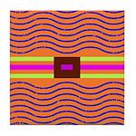 Orange Optical Art Graphic Tile Coaster