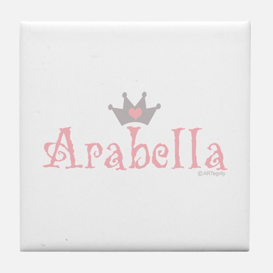 Onederful Arabella (2) Tile Coaster