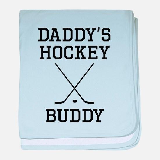 Daddys Hockey Buddy baby blanket