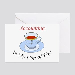 Accounting is my cup of tea Greeting Cards (Packag