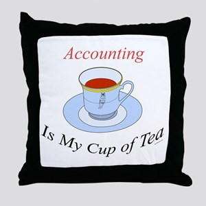 Accounting is my cup of tea Throw Pillow