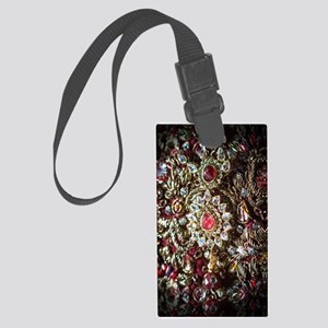 Indian Diamond and Ruby Large Luggage Tag