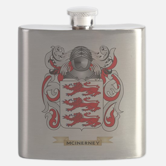 McInerney Coat of Arms - Family Crest Flask