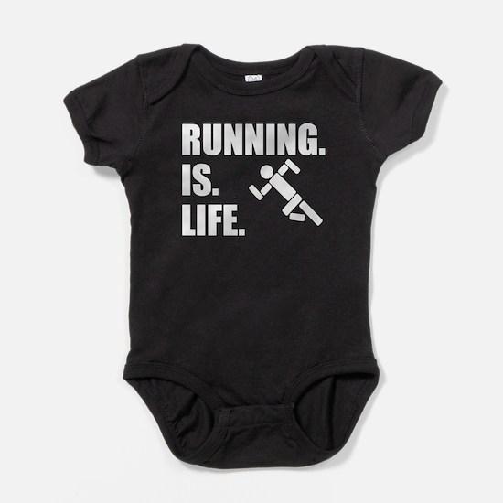 Running Is Life Baby Bodysuit